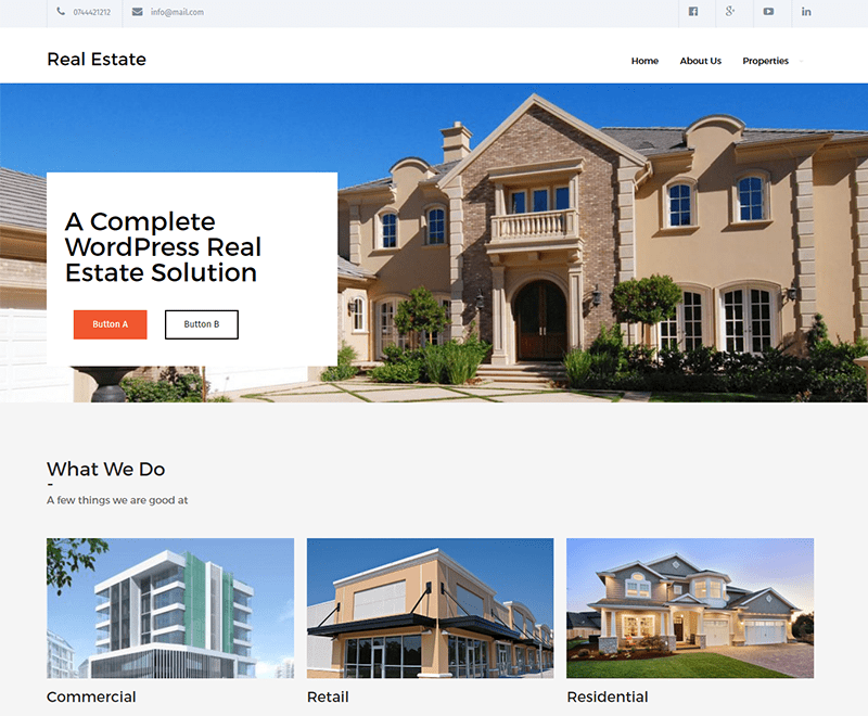 Best Free WordPress Home Rental And Property Themes In 2019