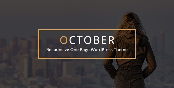 October - Responsive One Page WordPress Theme : Free Download